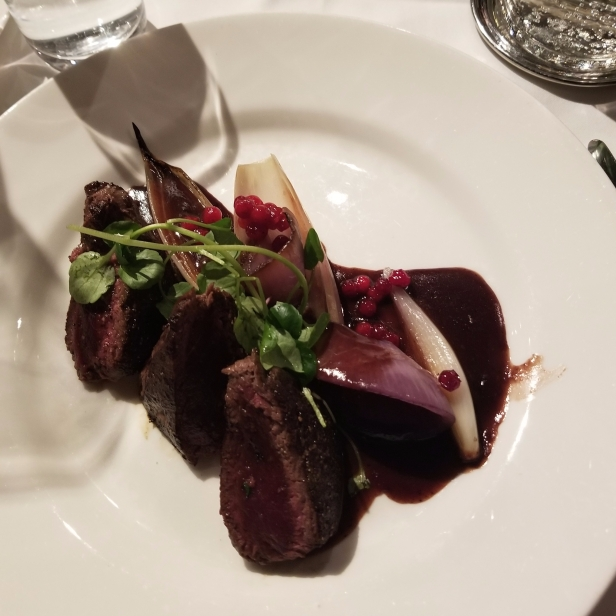 Reindeer with lingonberries! (I wanted something Swedish)